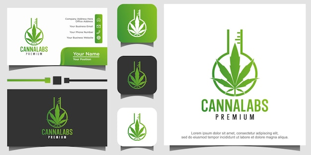 Logovorlage für cannabislabor