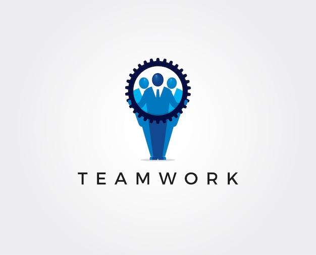 Logovorlage für minimale teamarbeit