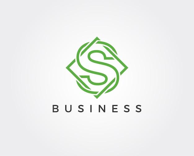 Logovorlage für minimalen buchstaben s