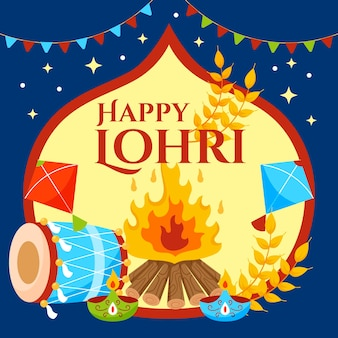 Lohri feier illustration