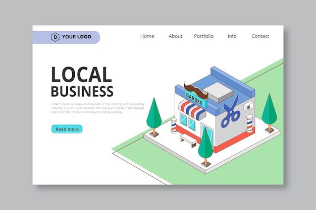 Lokale business-landingpage