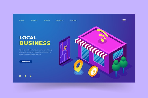 Lokale business-landingpage