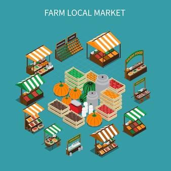 Lokale marktrunde