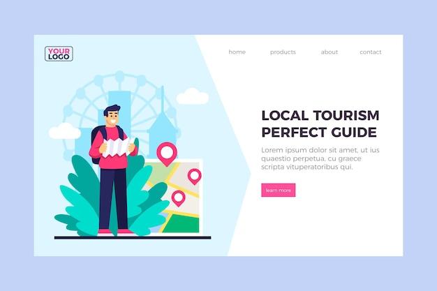 Lokale tourismus-landingpage-vorlage