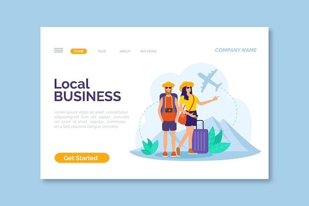 Lokale tourismus-landingpage