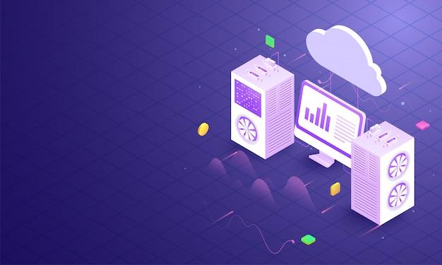 Lokaler server, der mit dem cloud-server verbunden ist.