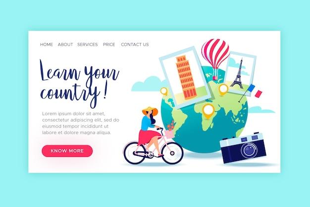 Lokaler tourismus - landing page