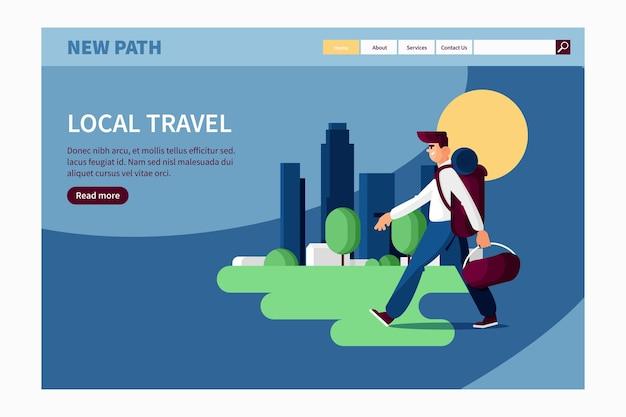 Lokaler tourismus-landingpage-stil