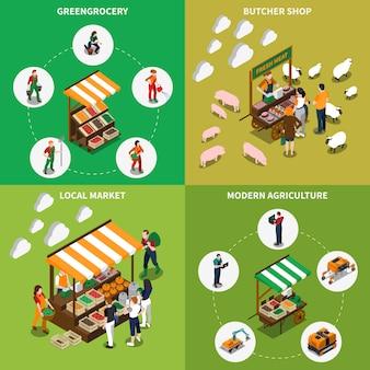 Lokales greengrocery-konzept