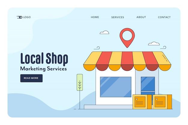 Lokales shop-konzept