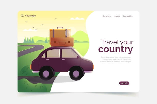 Lokales tourismus-landingpage-vorlagenthema