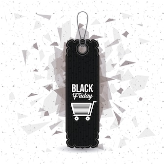 Lokalisierte hängende marke von schwarzem freitag-design