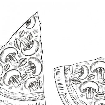 Lokalisierte ikone der köstlichen italienischen pizza