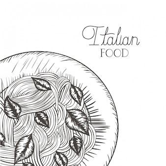 Lokalisierte ikone der köstlichen teigwaren