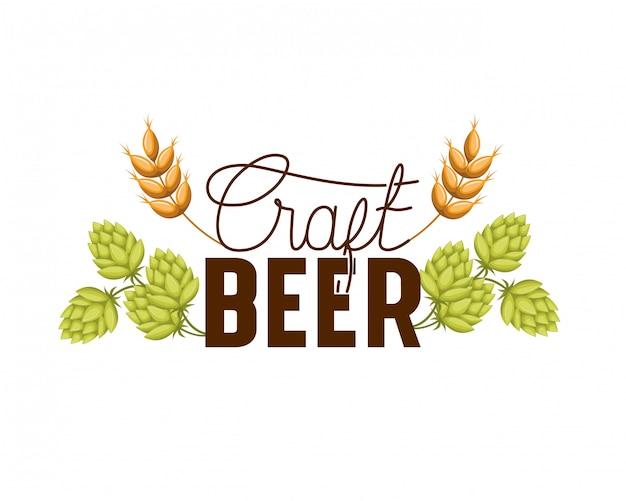 Lokalisierte ikone des handwerks bier-labels