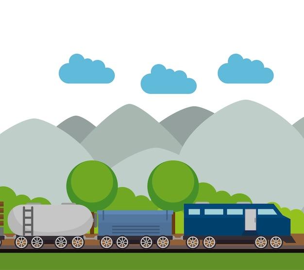 Lokalisierte ikonendesign der eisenbahn zug