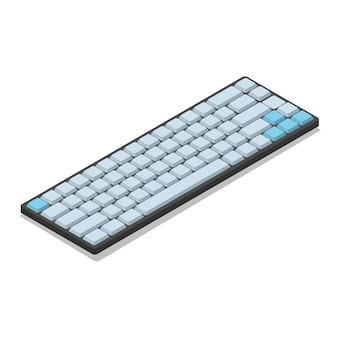 Lokalisierte illustration der isometrischen tastatur 3d vektor