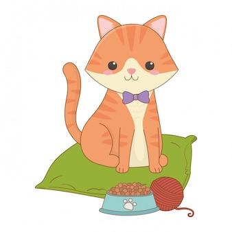 Lokalisierte katzenkarikaturclipartillustration