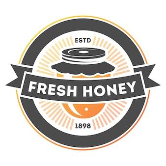 Lokalisierter aufkleber des neuen honigs weinlese