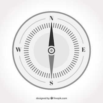 Lokalisierter flacher kompass