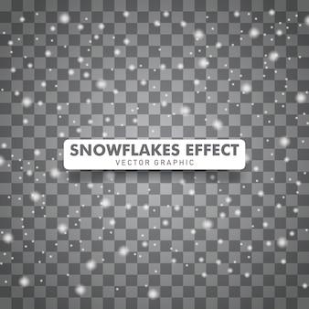 Lokalisierter transparenter hintergrund des schneefalles weihnachten.