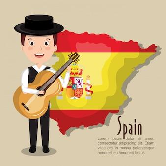 Lokalisiertes ikonendesign der spanischen kulturikonen