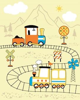 Lokomotiven-karikatur