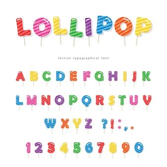 Lollipop candy schriftart.