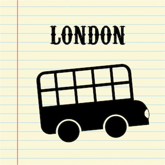 London-Design über weißer Hintergrundvektorillustration