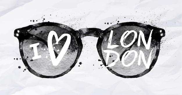 London poster mit sonnenbrille