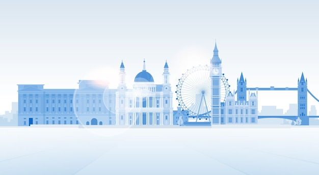 London-schattenbild-englisch-stadt-ansicht-kopien-raum