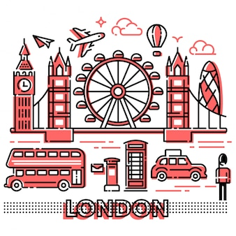 London-stadt-landschaftsmoderne linien