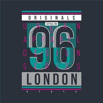 London-textrahmen mit grafischem vektordesignt-shirt der zahl