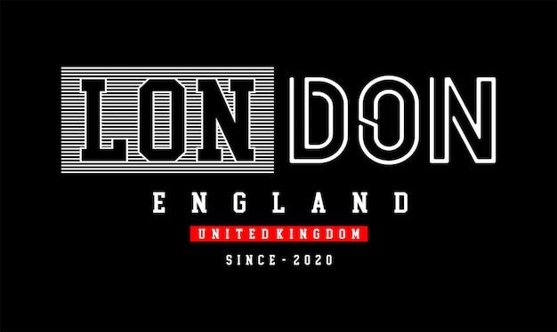 London typografie für print t-shirt typografie für print t-shirt