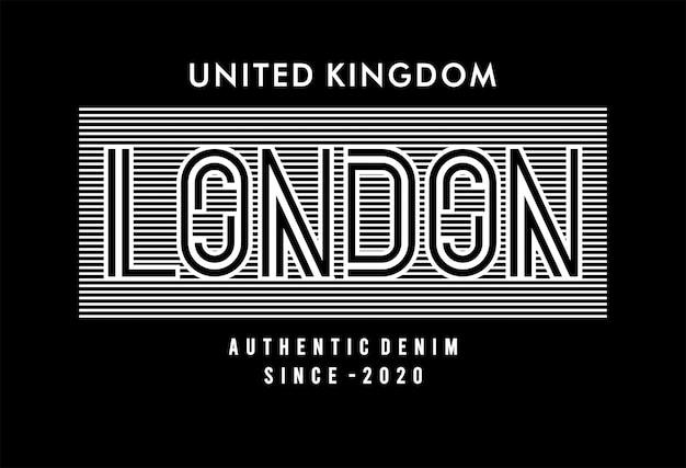 London typografie für print t-shirt