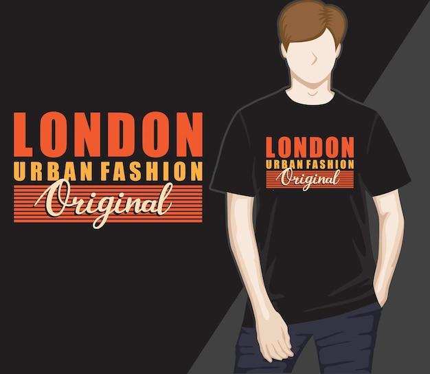 London urban fashion typografie t-shirt design