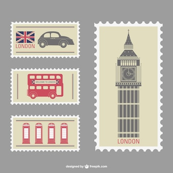 London vektor-briefmarken