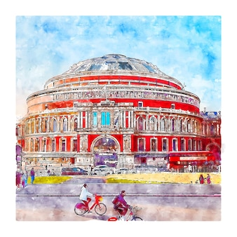 London vereinigtes königreich aquarellskizze handgezeichnete illustration