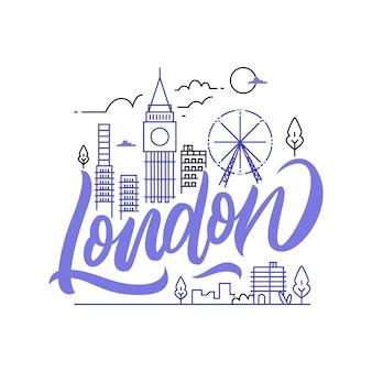 Londoner stadt schriftzug