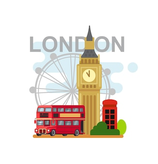Londoner stadtemblem. flacher stil