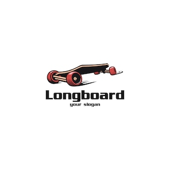 Longboard-logo-illustrationen