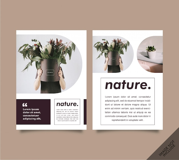 Lookbook-broschüre natur
