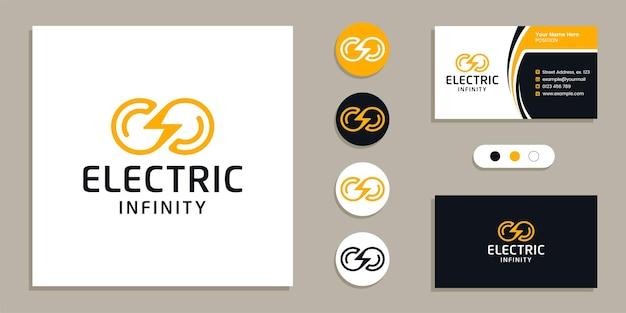 Loop, grenzenloses, elektrisches infinity-logo und inspiration für visitenkarten-designvorlagen