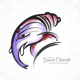 Lord ganesh chaturthi indischer festivalkartenhintergrund