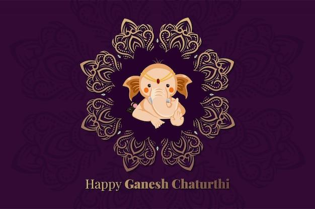 Lord ganesha für glückliches ganesh chaturthi