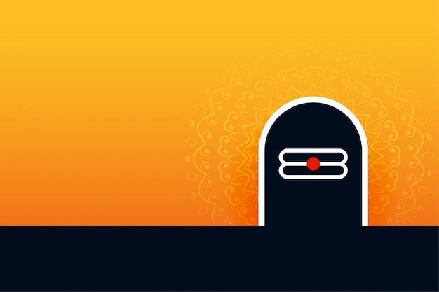 Lord shiva shivling hintergrund für shivratri festival
