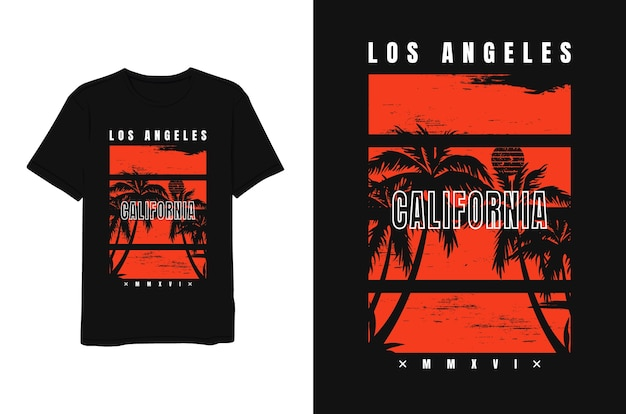 Los angeles kalifornien, tropisches t-shirt.