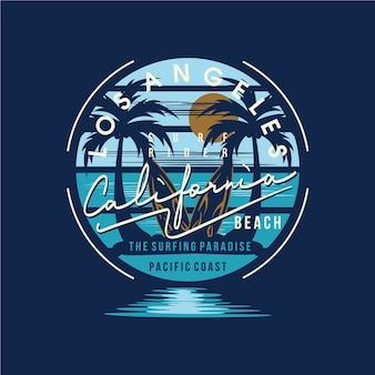 Los angeles kalifornien typografie design