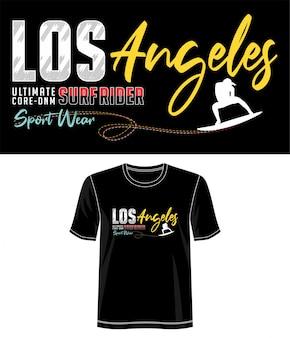 Los angeles typografie für print t-shirt