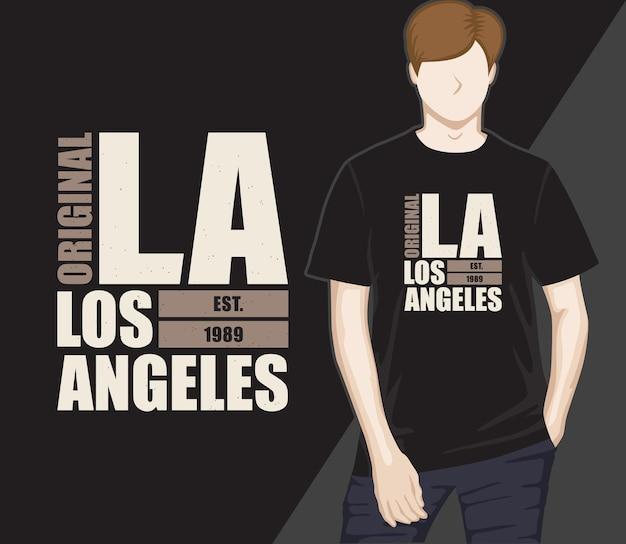Los angeles typografie-t-shirt-design